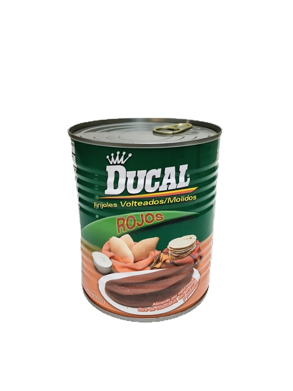 Ducal Refried Red Beans Frijoles Rojos Volteados 15 Oz